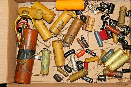 New and used Large Lot of Variable Capacitors - different makes and sizes