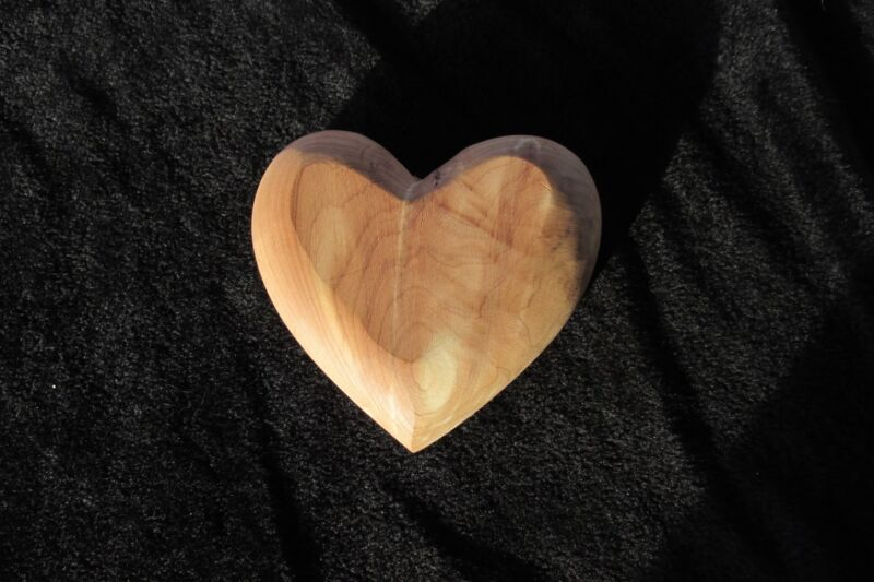 "Wooden Heart for craft projects 4.25""  crafters"