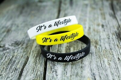 (LOWERED ITS A LIFSTYLE silicone wristband bracelet cars slammed auto tuned gifts)