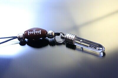 Football bead pendant!Best Necklace.Your or your team name and colors! Any