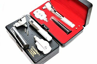 New Fiber Optic Ophthalmoscopeotoscope Ent Diagnostic Set.ledce2 Free Bulb