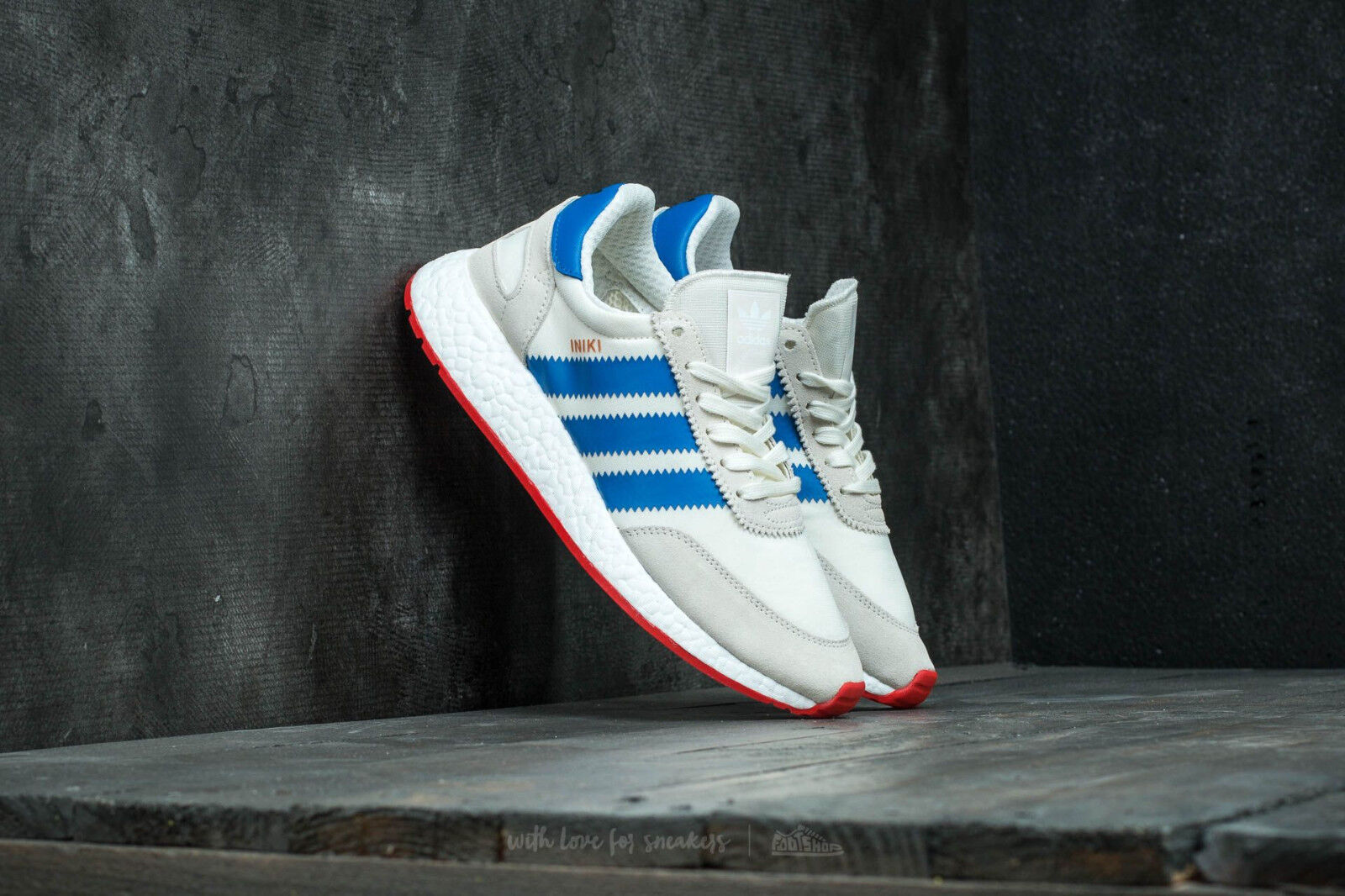 Adidas Iniki Runner 1.0 Men Size US 7.5 US 12 Off White Blue Boost BB2093