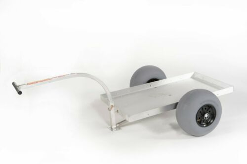 2-Wheel Solid Deck Aluminum Pull Wagon-BALLOON SAND TIRES-No-Rust-Made in USA!