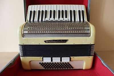 Weltmeister Gigantilli I German ACCORDION 60 BASS AKKORDEON + Case for sale  Shipping to Canada