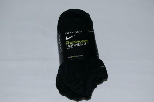 NIKE Performance Lightweight No-Show Socks 6 PACK - Size Medium 5Y-7Y - NWT