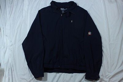 Vintage Ralph Lauren Navy Lightweight Jacket Nbc Sports 90S Spring Fall Xl L