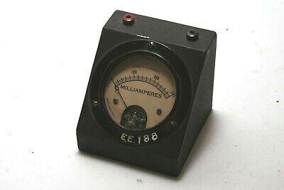 Vintage Jewell Electrical Ammeter Panel Meter Milliamperes 0-300 - Free Shipping