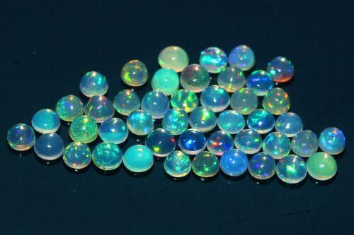 43 Pcs AAA+100%Natural Ethiopian Fire Opal Round Shape Loose Gemstone#1814