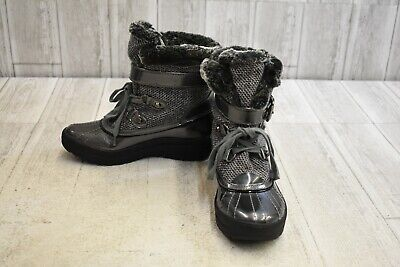 Anne Klein Sport Gallup Winter Boots, Women's Size 6M, Grey/Pewter NEW
