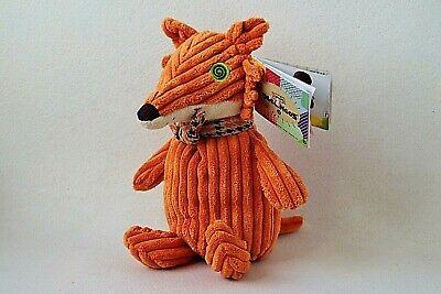 Les Deglingos Fuchs Kitschos Orange Fox Cord Plüschtier Stofftier Schmusetier