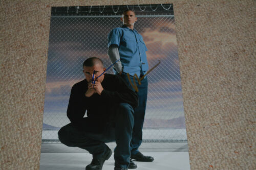 WENTWORTH MILLER & DOMINIC PURCELL  signed Autogramm 20x28 IP  PRISON BREAK