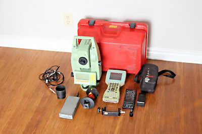 Leica Tcra1103 Plus 3 Robotic Total Station W Calrson Allegro Data Collector