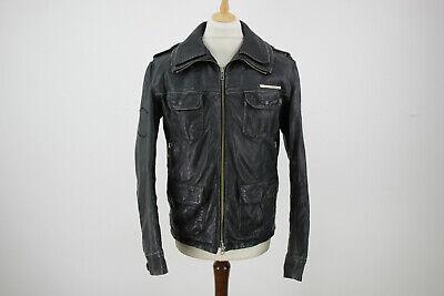 SUPERDRY Real Leather Black Jacket size M