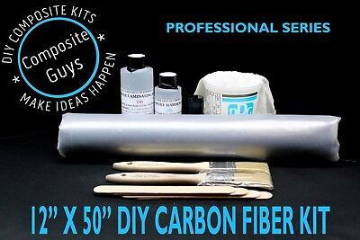 DIY REAL CAMOUFLAGE CARBON FIBER BUILDING KIT 12 x 50 * COMPOSITE GUYS * for sale  Shipping to Canada