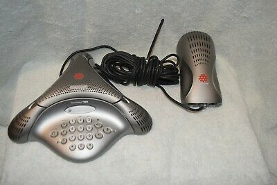 Polycom Voicestation 100 Office Telephone Speaker Phone Tested Working Ac Cord
