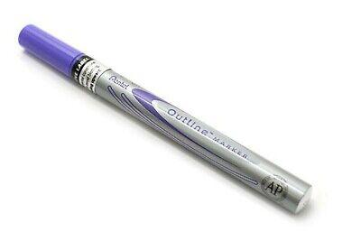 New Pentel Dual-color Outline Marker Pen Violet Silver Metallic Msp60-zv Art