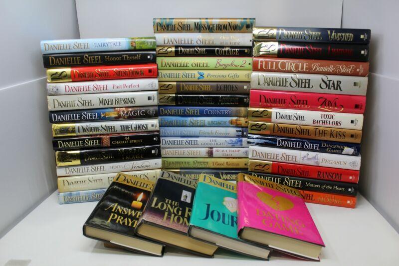 Lot of 5 Danielle Steel Romance Hardcover Books MIX