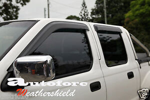NISSAN-D22-NAVARA-97-13-DUAL-CAB-UTE-WEATHER-SHIELD-WEATHERSHIELD-DOOR-VISOR