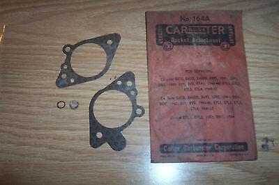 NOS CHRYSLER,DESOTO,DODGE 1941-53 CARTER CARBURETOR GASKET ASST.#164A