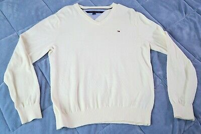Tommy Hilfiger Ivory Sweater Mens Medium