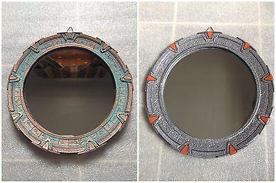 "Medium Stargate Mirror. SG1 - Patina or Silver. 7-3/4"" (19.7cm)"
