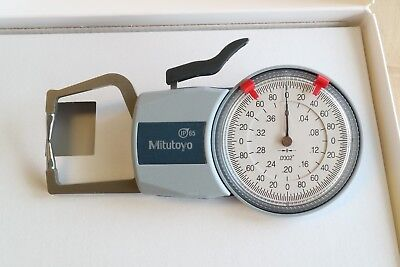 New Stock Mitutoyo Outside Thickness Dial Caliper Gage Gauge 0-0.4 0.0002