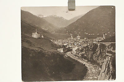 altes großes Foto Andermatt Schweiz um 1900