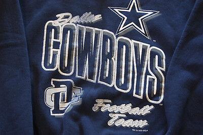 - Vtg 90s Dallas Cowboys Jersey Print Sweatshirt, XL