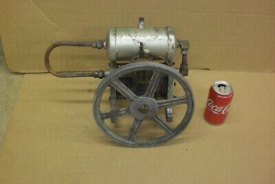 Air Compressor Cast Iron Primitive Steampunk Machine Oiler Flywheel Hit Miss