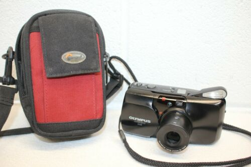 Olympus Infinity Stylus Zoom Point & Shoot 35mm Film Camera TESTED! w Battery!