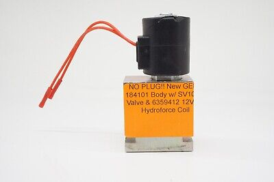 No Plug New Gehl 184101 Body W Sv10-24 Valve 6359412 12vdc Hydroforce Coil