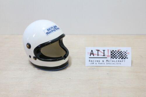 Ultra Rare JDM Nissan Skyline Racing Team Helmet Ashtray Display Piece , NOS R32