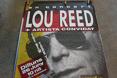 "Lou Reed 89 Spain Europe NY Tour Concert Advertising Poster 39x55"" Grateful Dead"