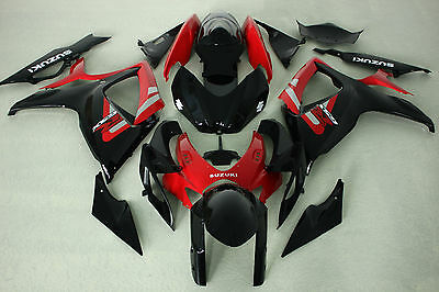 ABS Aftermarket Fairing kit fit for Suzuki gsxr600/750 06-07 2006 2007 red black