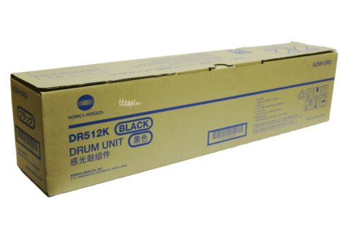 DR512K, A2XN-0RD Genuine Konica Bizhub C554 C454 C364 C284 C224 Black Drum Unit