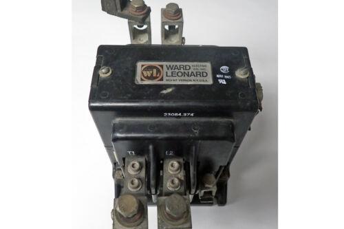 WARD LEONARD 2-POLE CONTACTOR 260AMP 500VDC COIL 115V 50/60Hz UNTESTED
