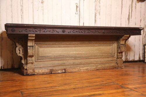 Antique Store Counter 2 Drawer Apothecary cabinet Wood Workbench table island