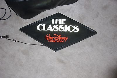 Walt Disney Black Diamond Store Display Electric Lamp Light Sign Rare Vtg Promo