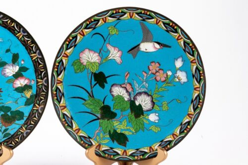 "Gorgeous 19th C. Japanese Cloisonne Enamel 12"" Charger!"