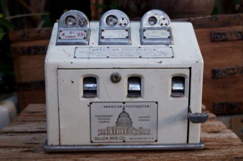 Rare Vintage American Postmaster Dillon Mfg. Co. U.S. Postage Stamp Vending Mach