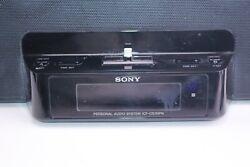 Sony Black iPhone Clock Radio Speaker Dock Dream Machine ICF-CS15iP