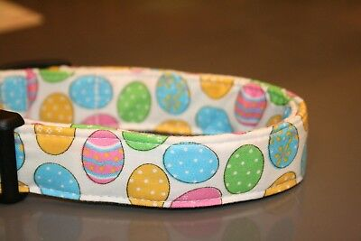 Easter Eggs White Dog Collars & Martingales & -