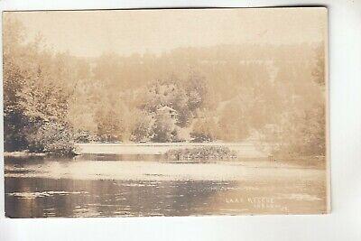 Real Photo Postcard Lake Rescue Ludlow VT