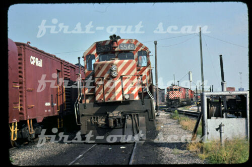 Original Slide - Canadian Pacific CP 5545 / 4727 GMD / MLW Scene Windsor ON 1976