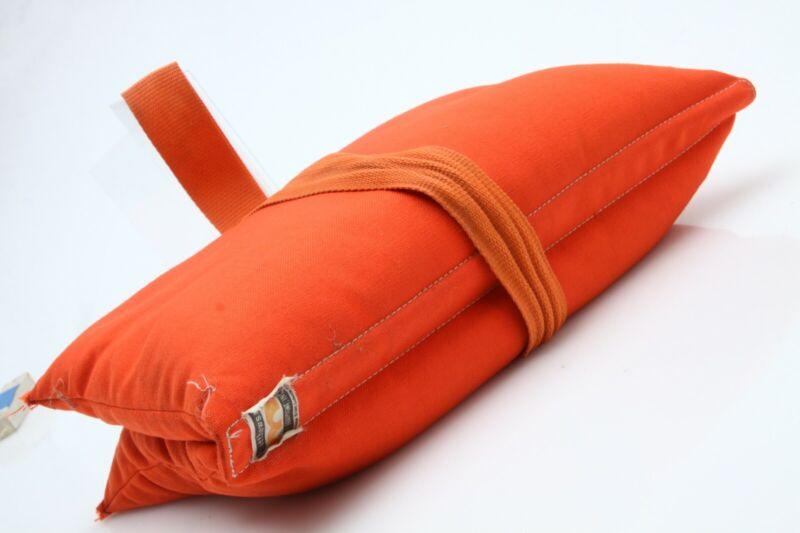 Matthews 25 lb filled Cordura Sandbag, Orange saddlebag style