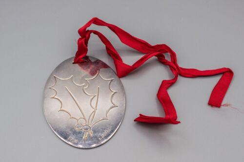 Cartier 1990 Noel Christmas Holly Leaf Seasons Greetings Ornament Annual Silver
