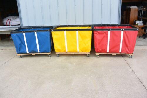 Uline H-1580 Vinyl BASKET TRUCKS on Casters. 20 Bushel