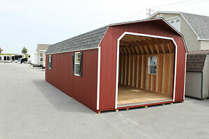 Amish Built 14x30 Gambrel Barn Garage Storage Shed