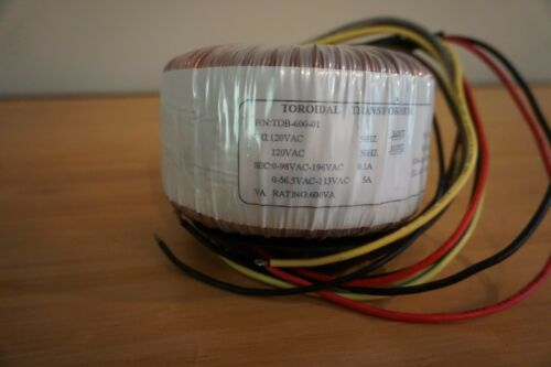 Toroidal Transformer - 600VA 113VCT Dual primary