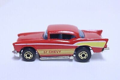 HOT WHEELS '57 CHEVY BEL AIR VERY NICE RED W/ GOLD HOT ONES